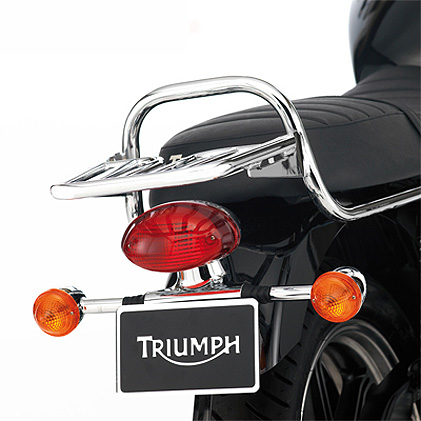 moto bonneville-&-bonneville-t100-efi luggage-rack,-chrome