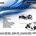 moto intercomunicadores lookwell intercomunicador