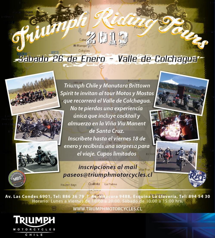 1er Paseo Triumph Riding Tours 2013 - Valle de Colchagua