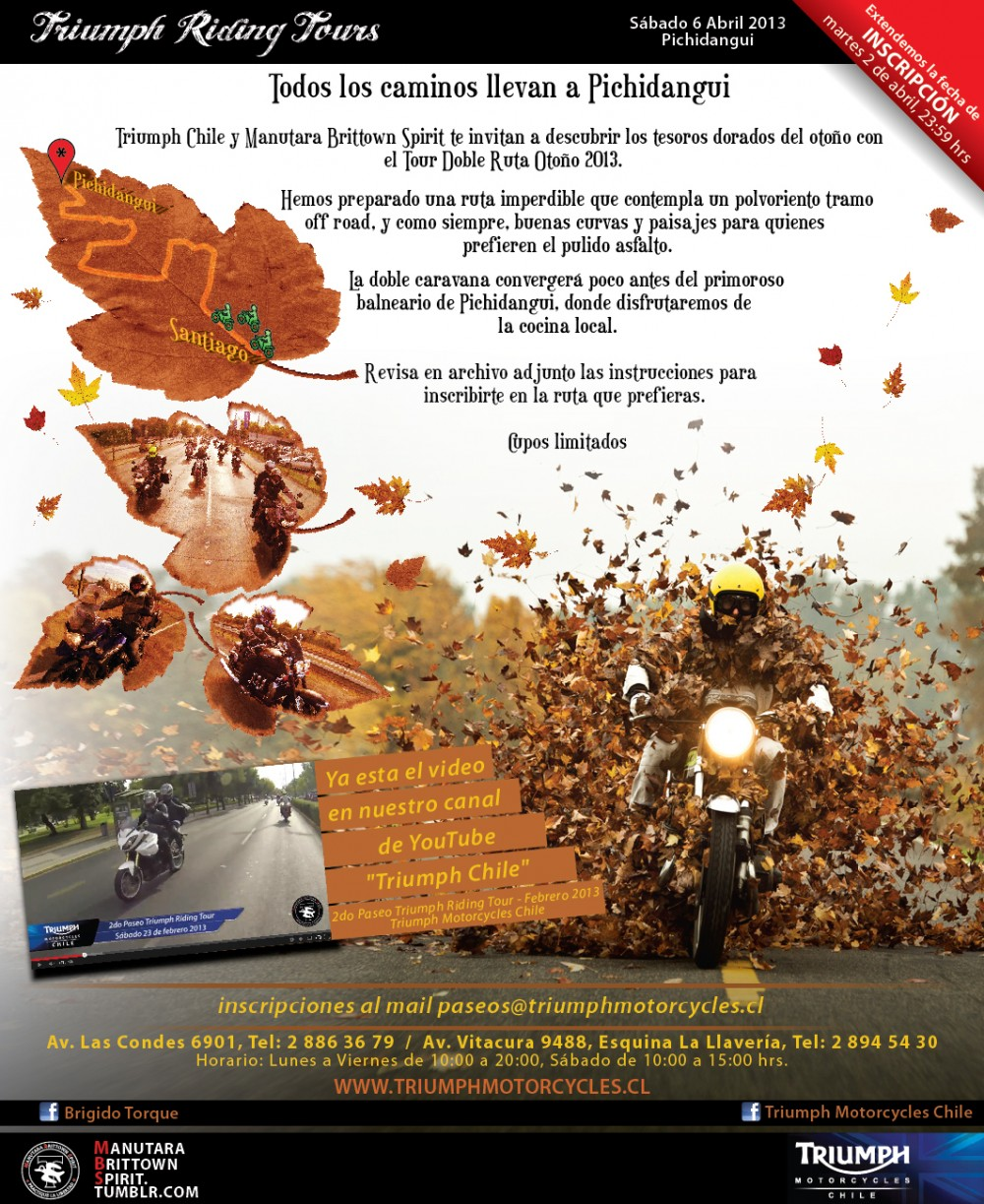 3er Paseo Triumph Riding Tours 2013 - Ruta Doble a Pichidangui