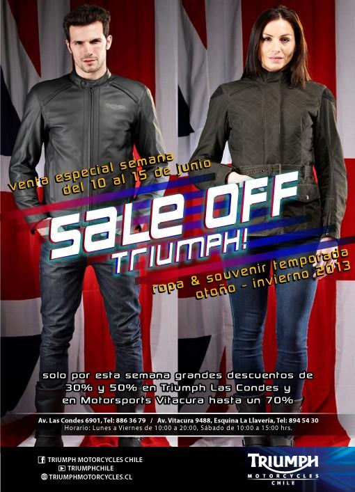 Venta de Ropa Triumph Temporada Otoño - Invierno 2013, del 10 al 15 de Junio 2013