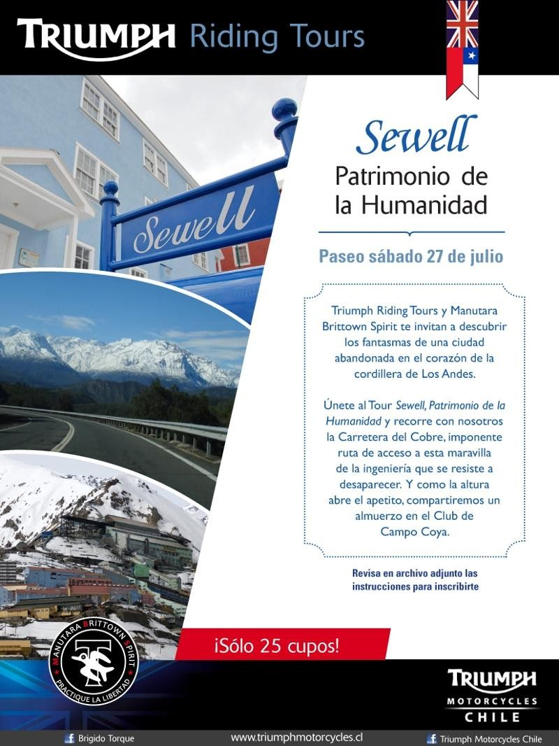 5to Paseo Triumph Riding Tours a Sewell, Sábado 27 de Julio