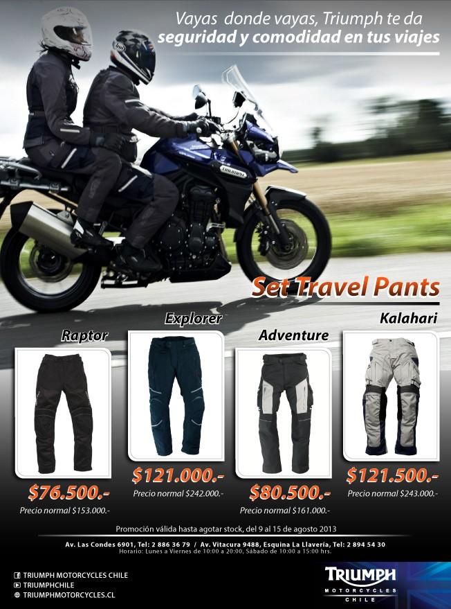 Pantalones Triumph de cordura a la mitad de precio