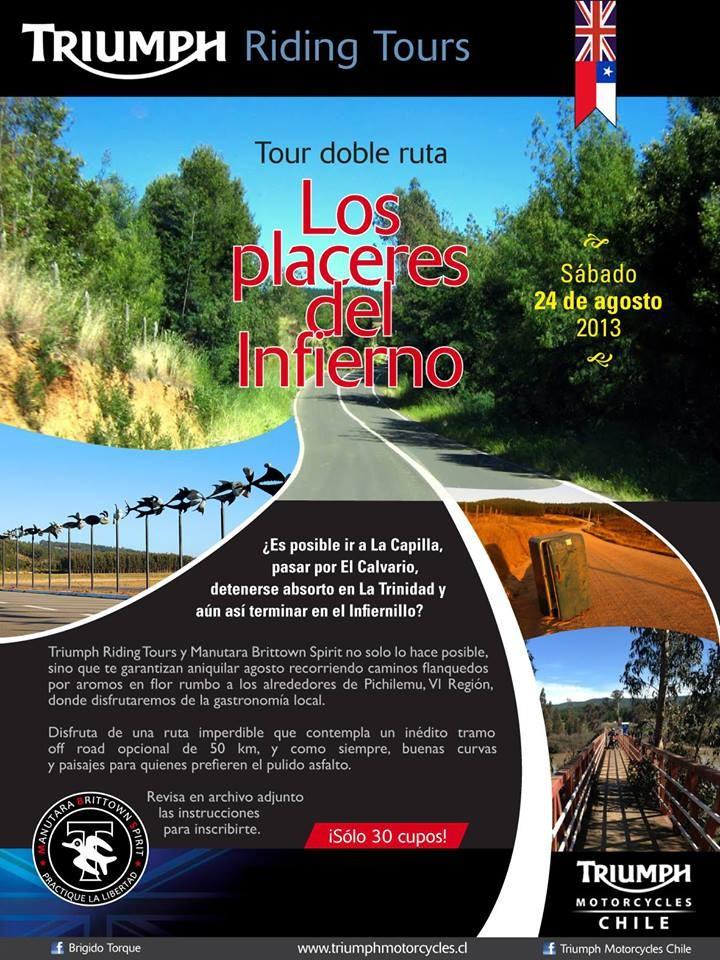 Tour doble ruta Los Placeres del Infierno