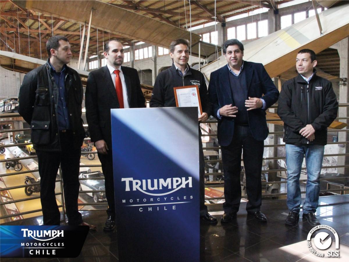 Triumph Las Condes recibe certificado de calidad ISO 9001 de parte de la empresa SGS y comienza a expandirse a regiones