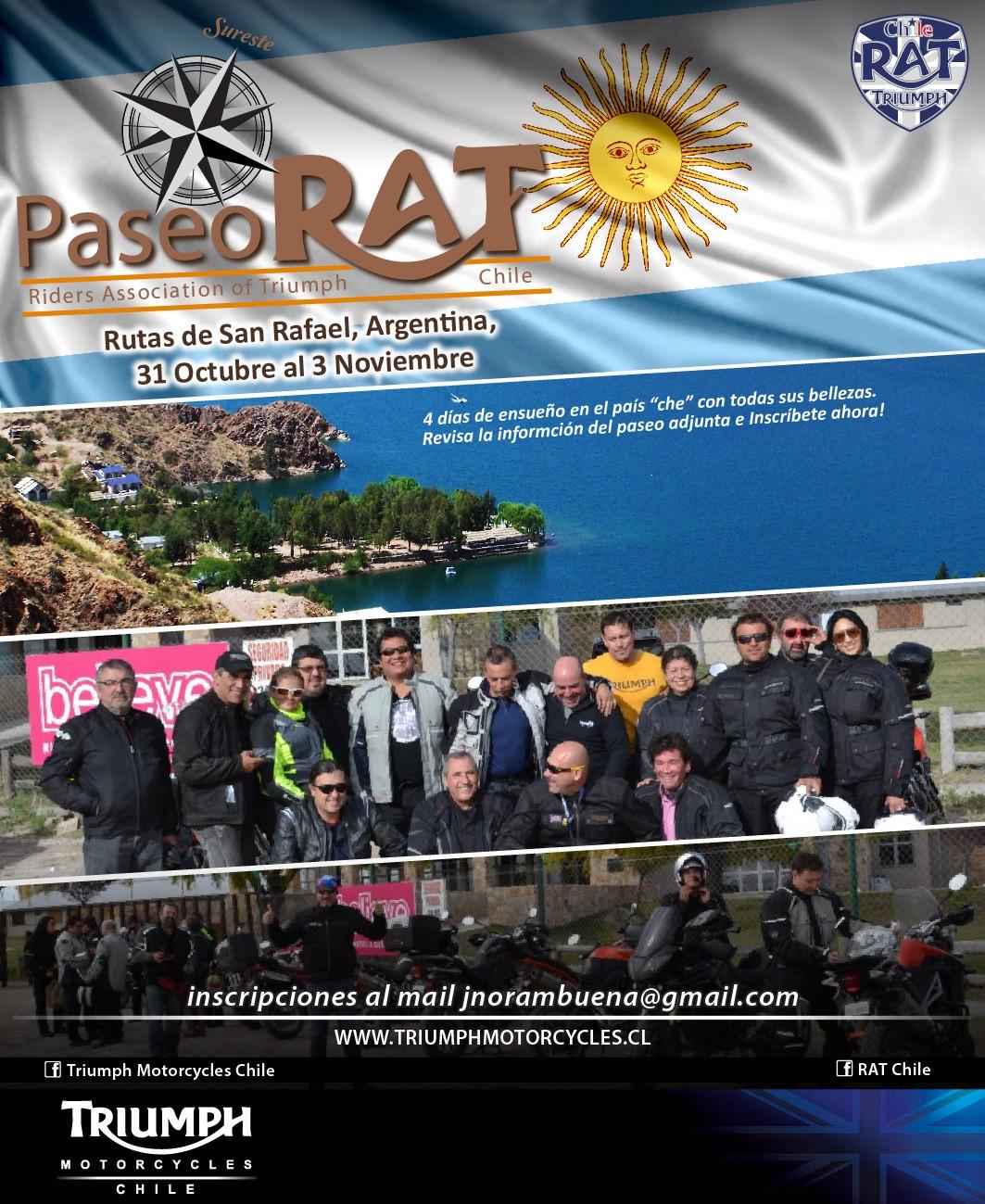 Paseo RAT Rutas de San Rafael - Argentina - 31 Octubre al 3 de Noviembre