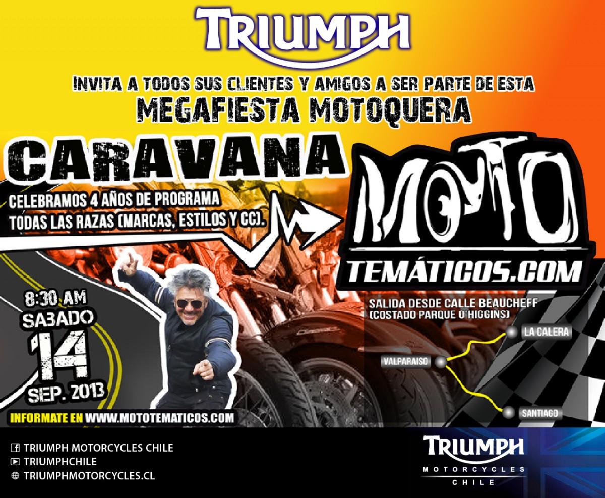 Triumph se une a la Gran Fiesta de los 4 años de Mototematicos