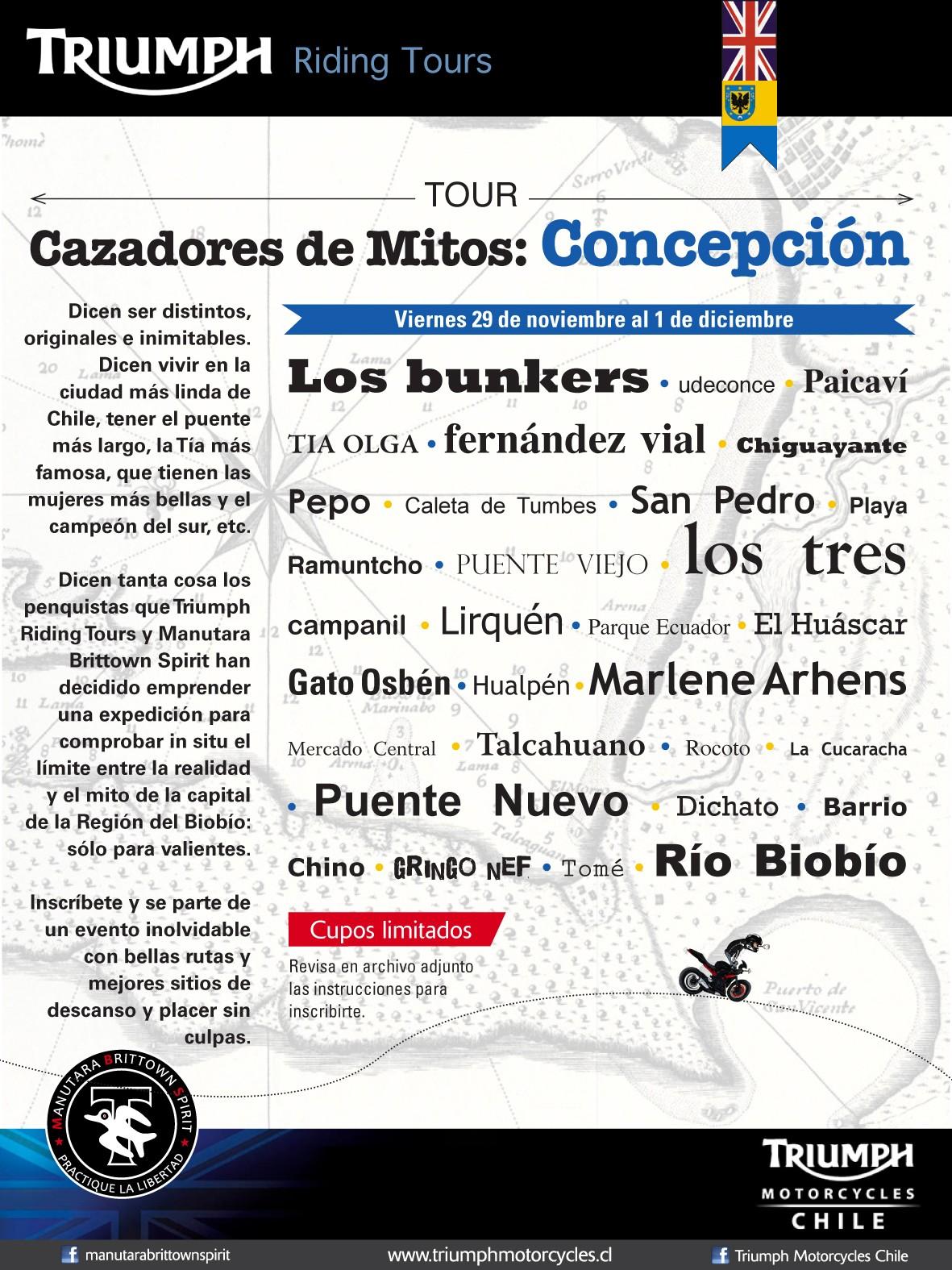 Tour Cazadores de Mitos Concepción