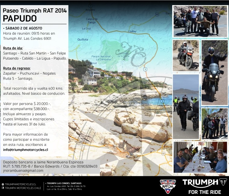 Paseo Triumph RAT 2014 - Papudo - Sábado 02 de agosto