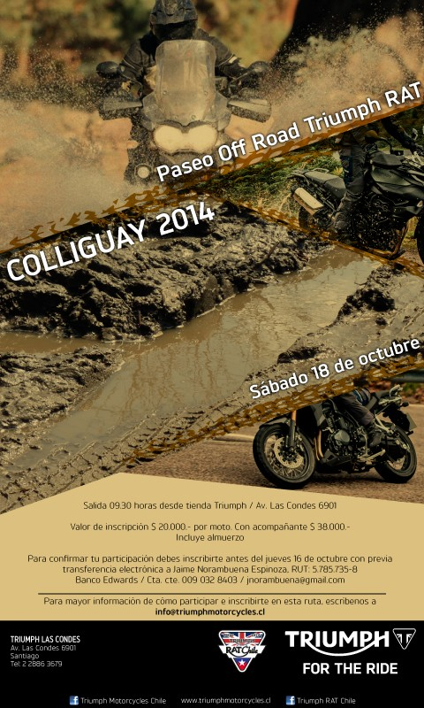 Paseo Triumph RAT Off Road / Colliguay 2014