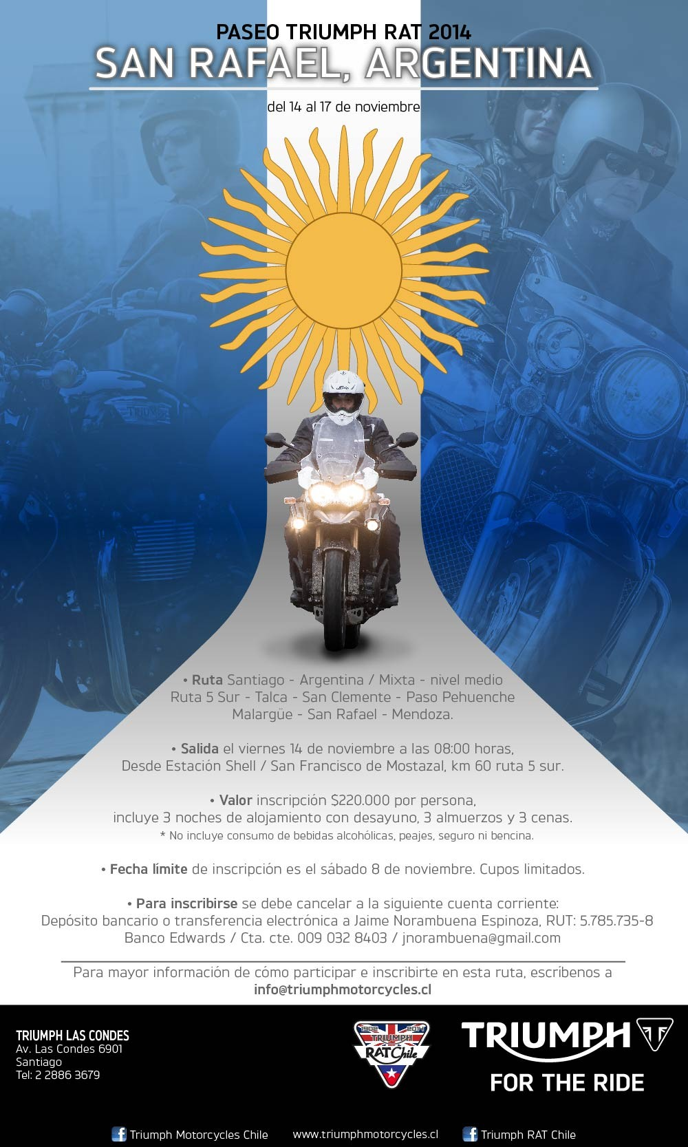 Paseo Triumph RAT Chile / San Rafael-Argentina 2014