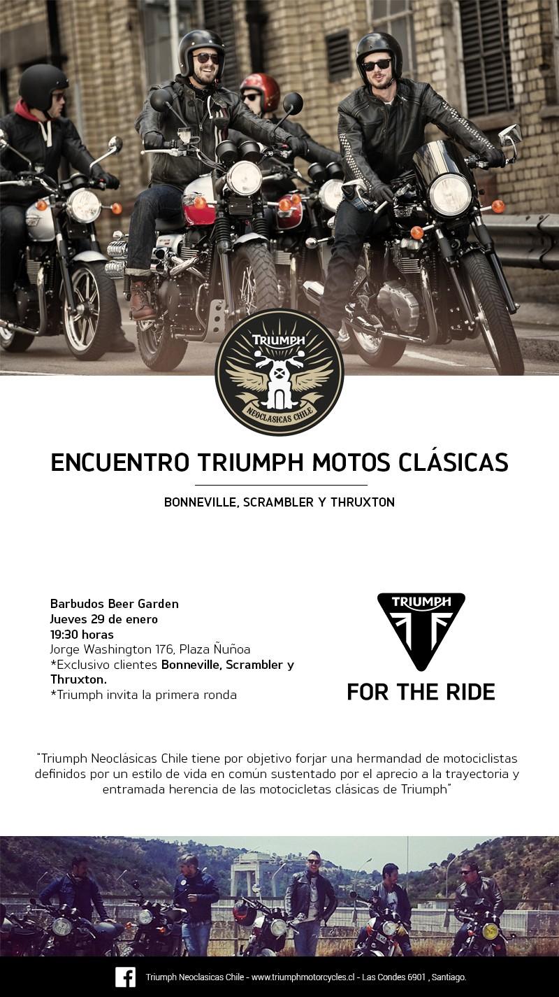 Encuentro Triumph Neoclásicas Exclusivo para motos Bonneville, Scrambler y Thruxton.