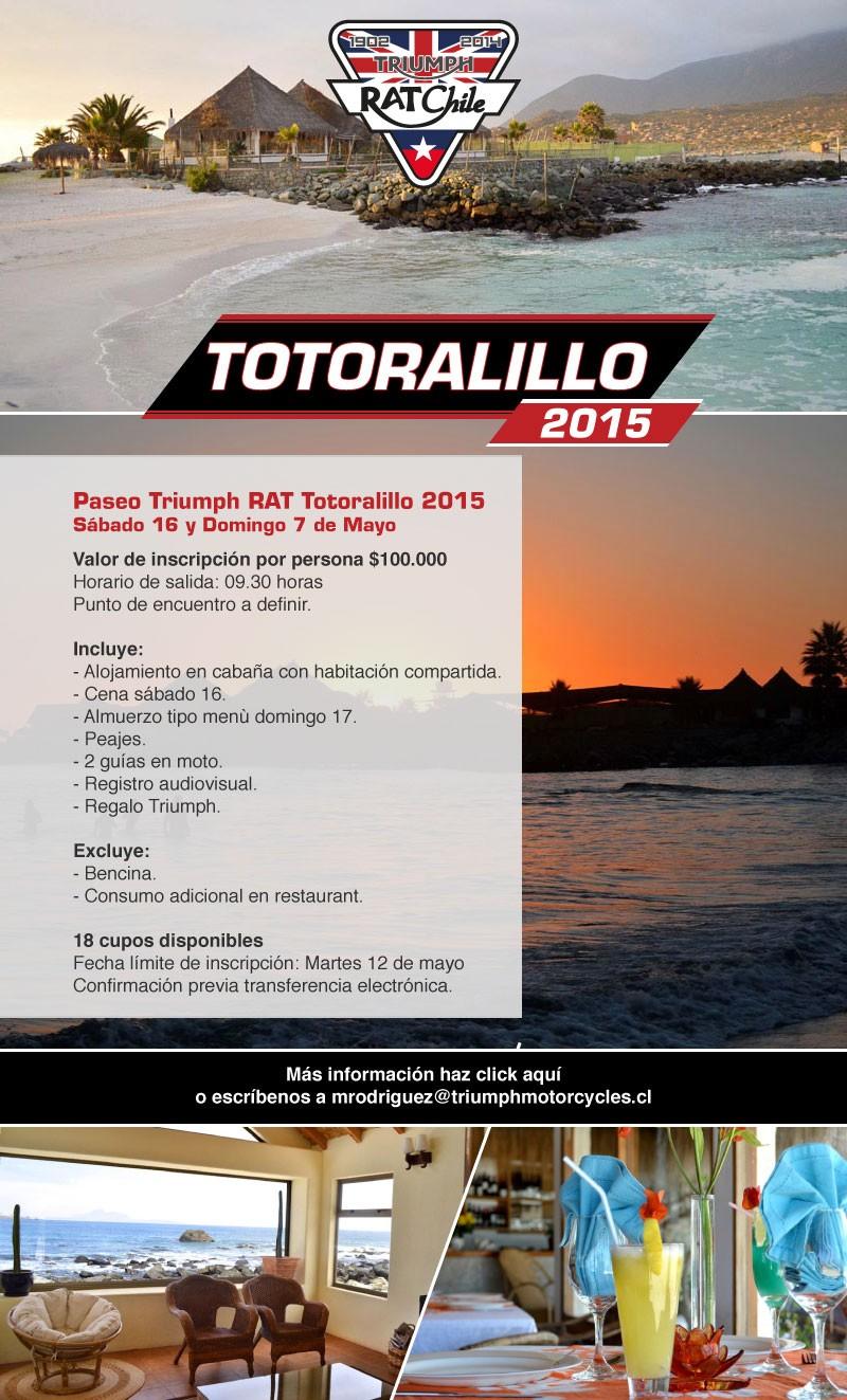 Paseo Triumph RAT Totoralillo 2015 / 16 y 17 de mayo