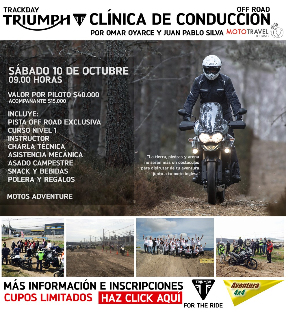 Clínica de Conducción Off Road Triumph by MotoTravel