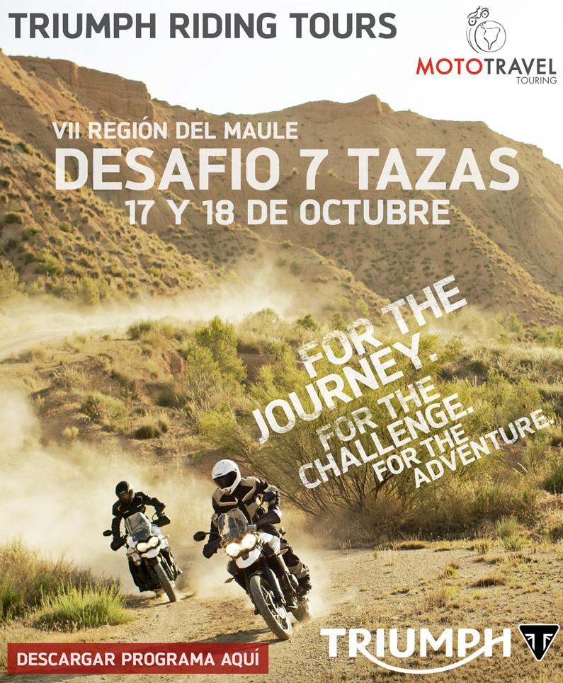 Triumph Riding Tours Desafio 7 Tazas por MotoTravel