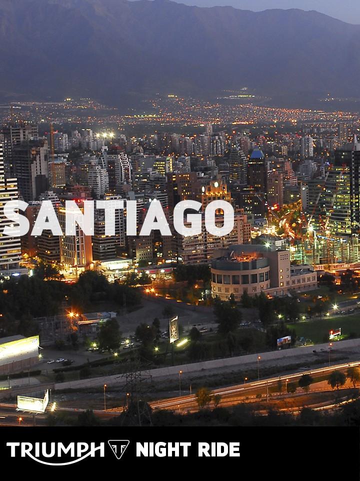 Triumph Night Ride Santiago 2016