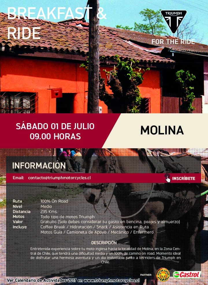Breakfast & Ride Molina