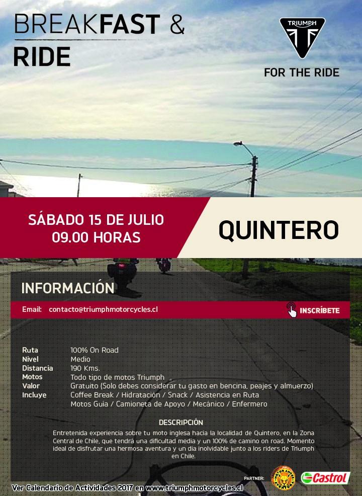 Breakfast & Ride Quintero