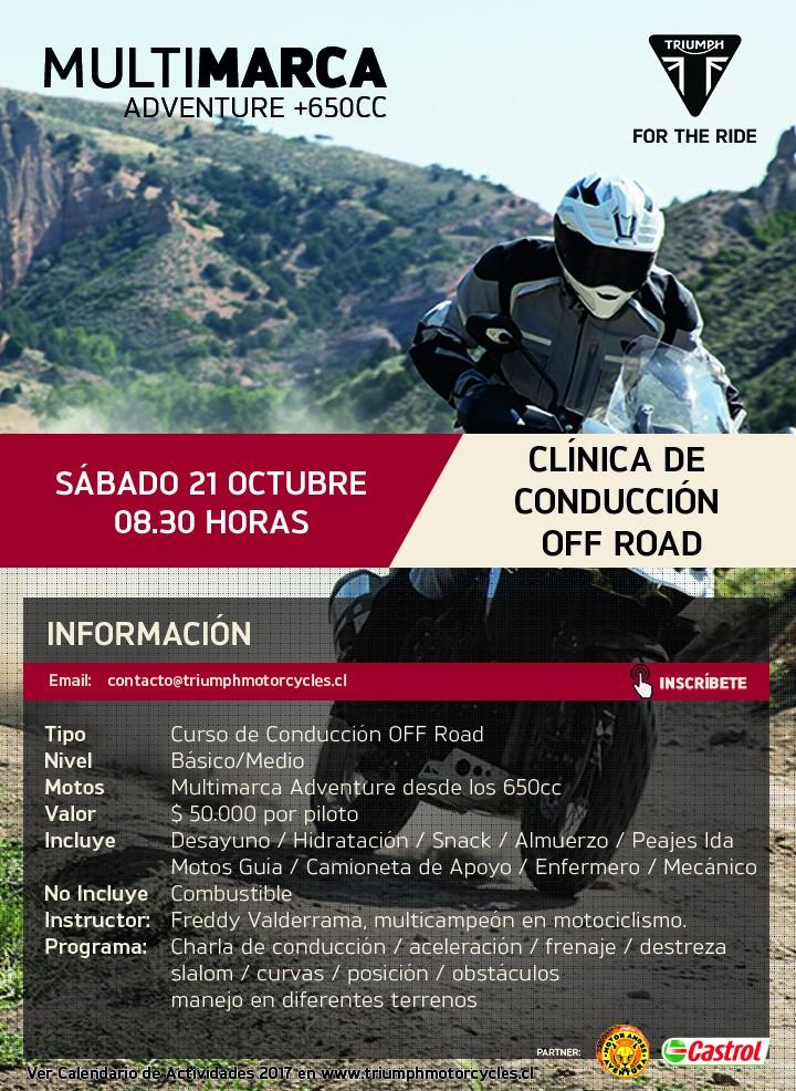 Clínica de Conducción Off Road Multimarca +650cc