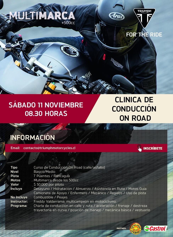 Clínica de Conducción On Road Multimarca +500cc