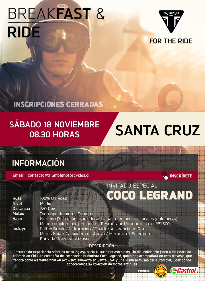 Breakfast & Ride Santa Cruz con Coco Legrand