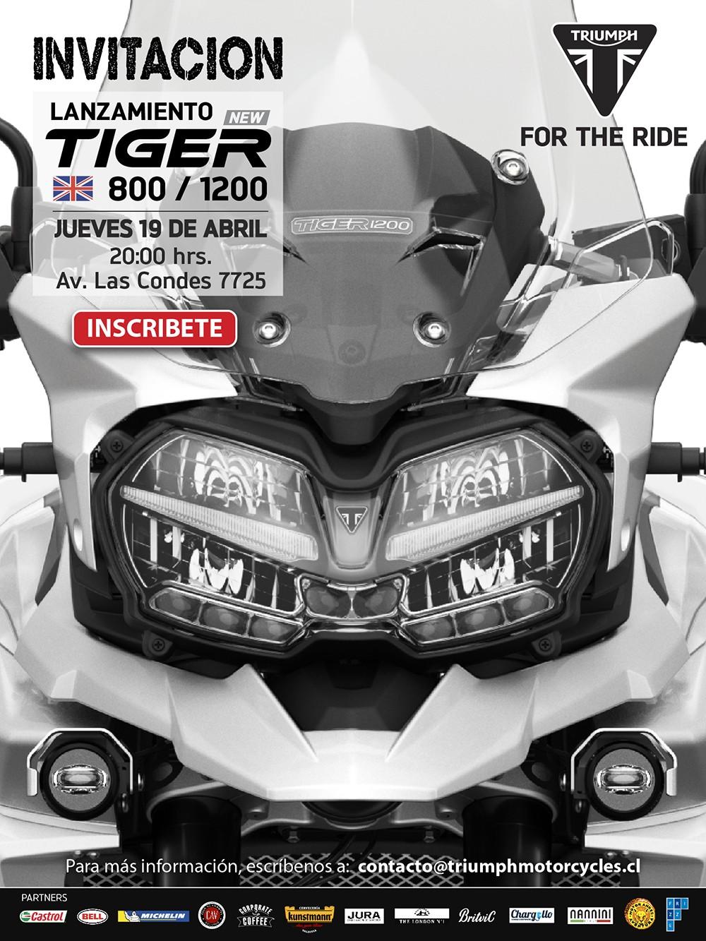 Lanzamiento en Chile de las nuevas Tiger 800 y Tiger 1200