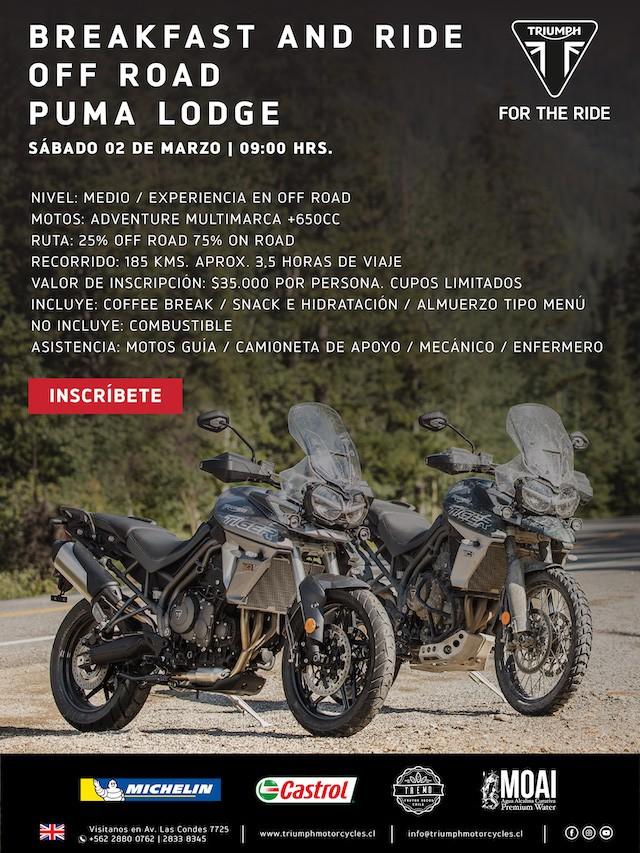 Breakfast and Ride Off Road Puma Lodge