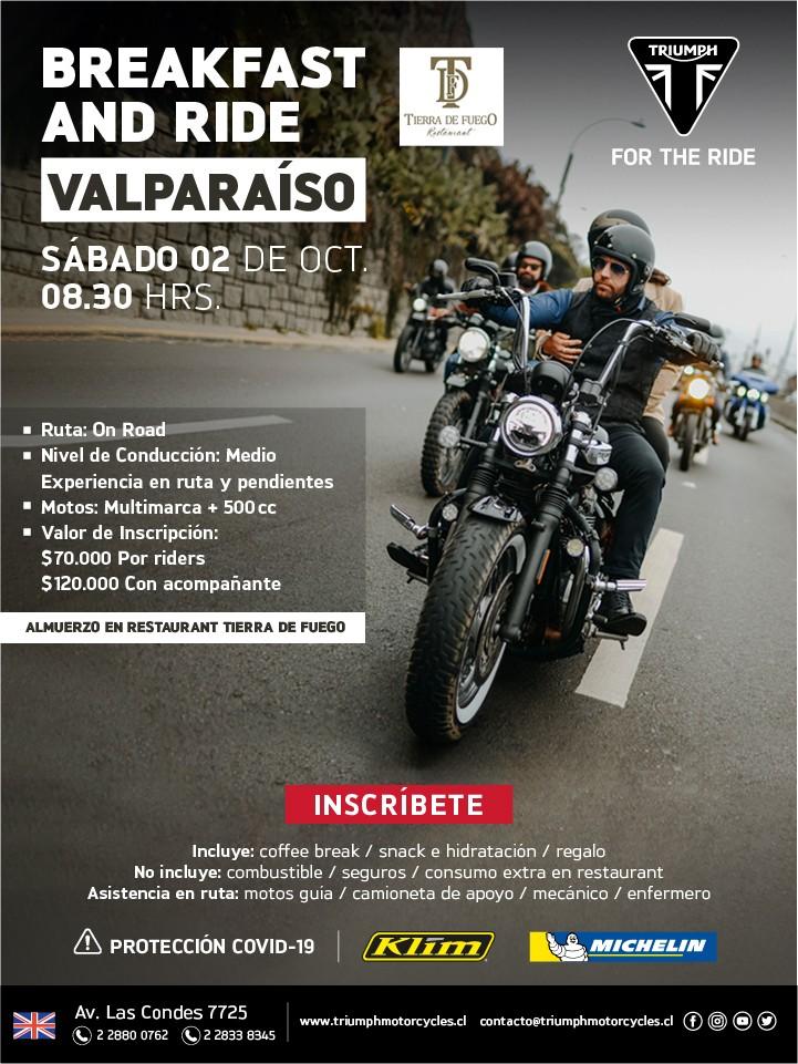 Triumph Breakfast and Ride Valparaiso Tierra de Fuego